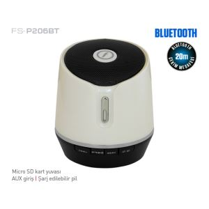 FRISBY FS-P206BT MINI BLUETOOTH SPEAKER - BEYAZ