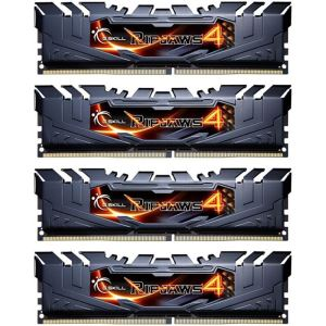 GSKILL 32GB (4x8GB) Ripjaws4 Siyah DDR4 2133MHz CL15 1.2V Ouad Kit Ram