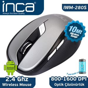 INCA IWM-280S WIRELESS MOUSE GRİ&SİYAH
