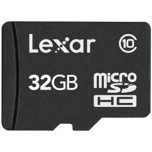 32GB microSDHC High Speed with Adapter (Class 10)