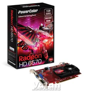 Powercolor HD6570 GDDR3 1GB 128Bit AMD Radeon DX11 Ekran Kartı